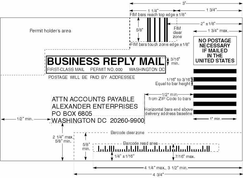 Domestic Mail Manual S922 Business Reply Mail (Brm) In Usps Business Reply Mail Template