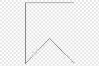 Double Edge Pennant Illustration, Bunting Flag Banner With Free Triangle Banner Template