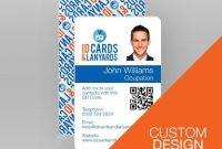 Double Sided Portrait Id Card Custom Design | Diseños De with Portrait Id Card Template