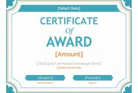 Download Free Gift Certificate Template Award Template For throughout Word 2013 Certificate Template