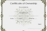 ❤️5+ Free Sample Of Certificate Of Ownership Form Template❤️ with Ownership Certificate Template