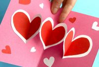 Easy Heart Pop Up Cards – Red Ted Art – Make Crafting With with regard to Heart Pop Up Card Template Free