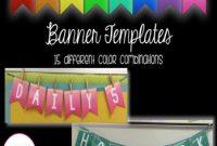 Editable Banner Template | Banner Template, Banner, Templates for Classroom Banner Template