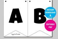 Editable Banner Template – Printable Banner Template – Diy Flag Banner with Banner Cut Out Template