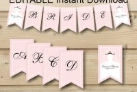 Editable Instant Download Printable Banner, Wedding Shower regarding Bridal Shower Banner Template