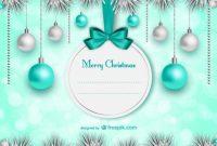 Elegant Christmas Card Template | Free Vector regarding Free Holiday Photo Card Templates