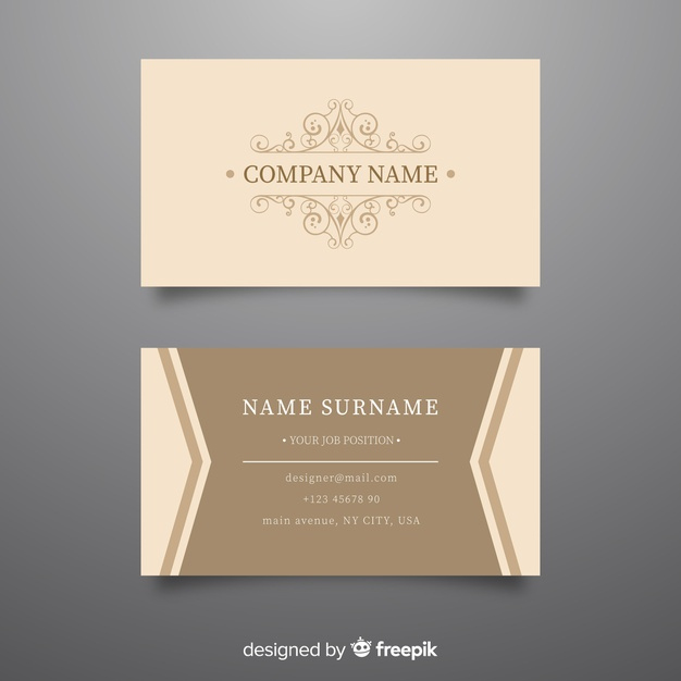 Elegant Luxurious Business Card Template | Free Vector With Regard To Plastering Business Cards Templates