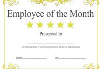 Employee Of The Month Certificate Template With Picture (2 intended for Employee Of The Month Certificate Template With Picture