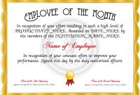 Employee Of The Month! Free Certificate Templates For #staff with Employee Of The Month Certificate Template With Picture