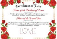 Entry #1Marloses For Design A Love Certificate Template intended for Love Certificate Templates