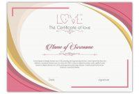 Entry #9Slp2008 For Design A Love Certificate Template for Love Certificate Templates