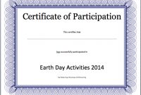 Event Participation Certificate Template – Free Template pertaining to Participation Certificate Templates Free Download