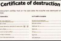 🥰5+ Free Certificate Of Destruction Sample Templates🥰 throughout Destruction Certificate Template
