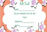 Facial Gift Certificates Template | Gift Certificate intended for Spa Day Gift Certificate Template