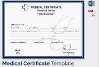 Fake Doctors Note Template Australia Medical Certificate with regard to Australian Doctors Certificate Template