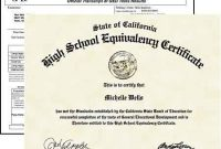 Fake Ged Diploma Templates Online – Diploma Makers for Ged Certificate Template