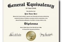Fake Ged Gcse Diploma And Certificates | Diploma, Degree intended for Ged Certificate Template
