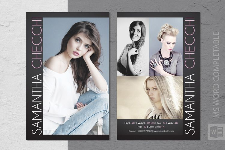 Fashion Modeling Comp Card Template Throughout Model Comp Card Template Free