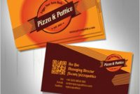 Fast Food Business Card Template | Free Vector within Food Business Cards Templates Free