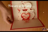 First Kiss – Valentine Love Pop Up Card Tutorial & Free throughout Heart Pop Up Card Template Free