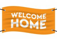 Flag Of Welcome Home Banner Template. | Premium Vector with Welcome Banner Template