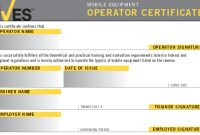 Forklift License Template Wallet Size – Nextinvitation with Forklift Certification Card Template
