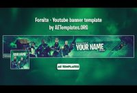 Fornite – Youtube Banner Template | Ae Templates within Youtube Banners Template