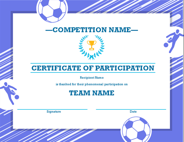 Four Sports Awards Certificate with Sports Award Certificate Template Word