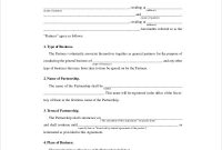 Free 10+ Sample Business Partnership Agreement Templates In pertaining to Template For Business Partnership Agreement
