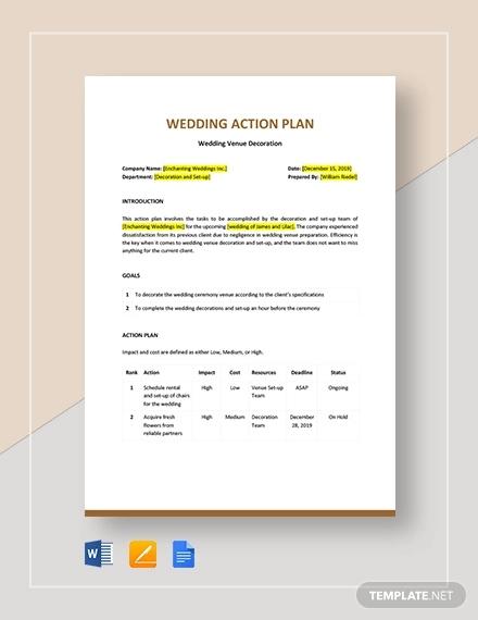 Free 11+ Wedding Plan Examples & Samples In Pdf | Google in Wedding Venue Business Plan Template