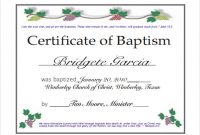 Free 20+ Baptism Certificate Samples In Psd | Pages | Ms with Baptism Certificate Template Word
