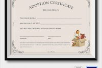 Free 25+ Sample Adoption Certificates In Ai | Indesign | Ms with regard to Adoption Certificate Template