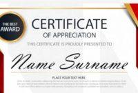 Free 35+ Best Printable Certificate Of Appreciation throughout Certificates Of Appreciation Template