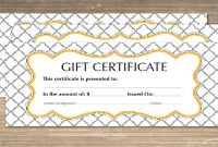 Free 64+ Sample Gift Certificate Templates In Pdf | Psd | Ms for Gift Certificate Template Indesign