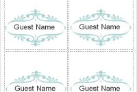 Free 7+ Place Card Templates In Ms Word | Pdf intended for Tent Name Card Template Word