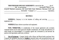 Free 8+ Sample Purchase And Sale Of Business Agreement with Small Business Agreement Template