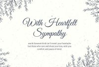 Free And Printable Custom Sympathy Card Templates | Canva regarding Sympathy Card Template