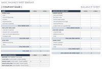 Free Balance Sheet Templates | Smartsheet With Regard To Small Business Balance Sheet Template