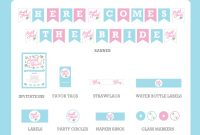 Free Bridal Shower Party Printables From Love Party intended for Free Bridal Shower Banner Template