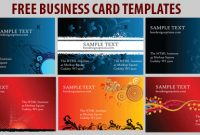 Free Business Card Templates: 6 Colorful Designs for Free Complimentary Card Templates