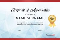 Free Certificate Of Appreciation Templates And Letters With for Pageant Certificate Template