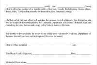 Free Certificate Of Destruction Template (8) – Templates pertaining to Certificate Of Vaccination Template