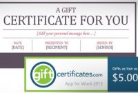 Free Certificate Template For Microsoft Word (Gift Card inside Word 2013 Certificate Template
