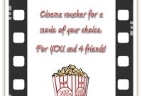 Free Cinema Voucher Template As Movie Coupon regarding Movie Gift Certificate Template
