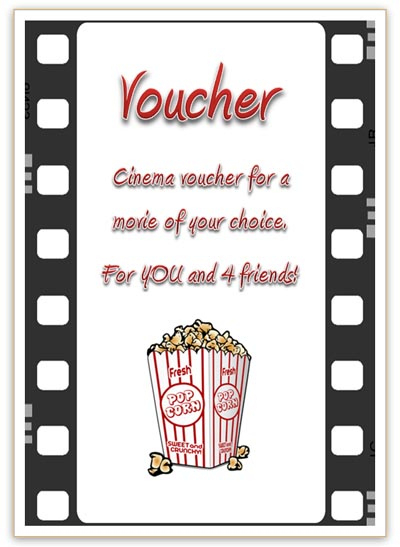 Free Cinema Voucher Template As Movie Coupon regarding Movie Gift Certificate Template