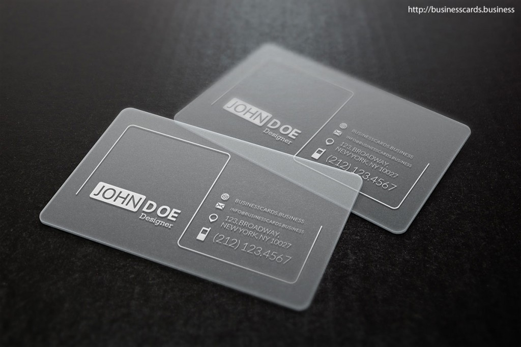 Free Clean Glossy Business Card Template : Business Cards Intended For Transparent Business Cards Template