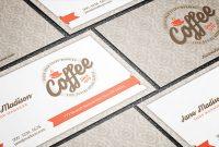 Free Elegant Vintage Cafeteria Business Card Template regarding Coffee Business Card Template Free