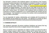 Free Employee Handbook Template Modern Free Employee regarding Small Business Policy And Procedures Manual Template