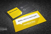 Free Flat Design Business Card Template With Long Shadow pertaining to Designer Visiting Cards Templates