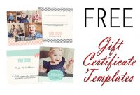 Free Gift Certificate Photoshop Templates From Birdesign in Gift Certificate Template Photoshop